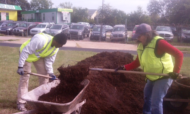 Rodney Ahart and Jeanette Swenson working hard.