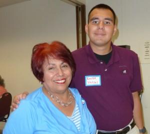 Emilio Vargas, recipient of the 2015 WPNA Scholarship,  with his aunt, Josie Garza