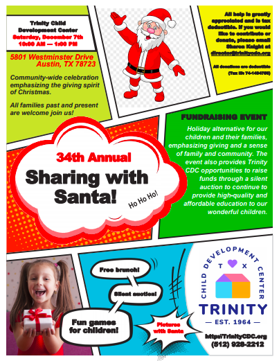 Sharing with Santa flyer preview